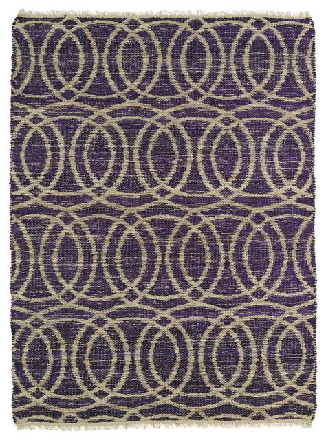 Kaleen Kenwood Ken03 95 Purple Area Rug, 2&x27;x3&x27;.