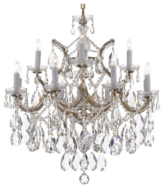 Crystal Chandelier With Diamond Cut Crystal