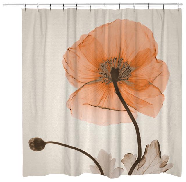 Poppy Harvest Shower Curtain Contemporary Shower Curtains