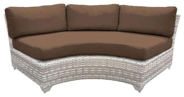 Fabulous Tkc Fairmont Curved Armless Patio Sofa In Dark Brown Set Of 2 Creativecarmelina Interior Chair Design Creativecarmelinacom