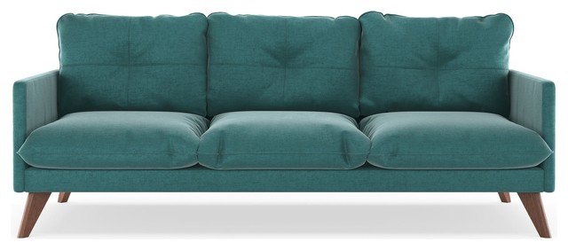 Haven Sofa Mod Velvet, Blue Topaz.
