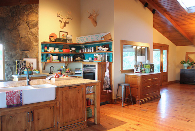 example of a country home design design - Pioneer Woman Kitchen
