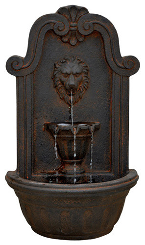 Modern Home Courtyard Lion\'s Head Wall Mount/Floor Waterfall ...