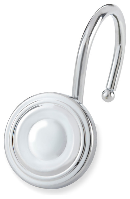 Shower Hooks Circle Contemporary Shower Curtain Rings By Elegant Home Fashions
