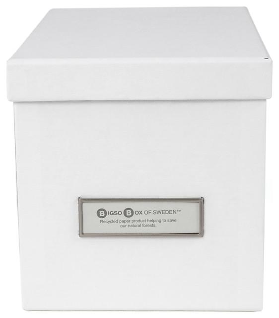 Kristina Lidded Storage Box, Small, White.