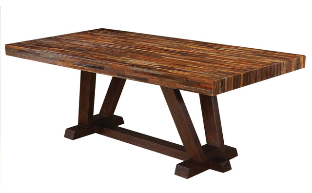four hands max 84 dining table dining tables - Homemade Dining Room Table