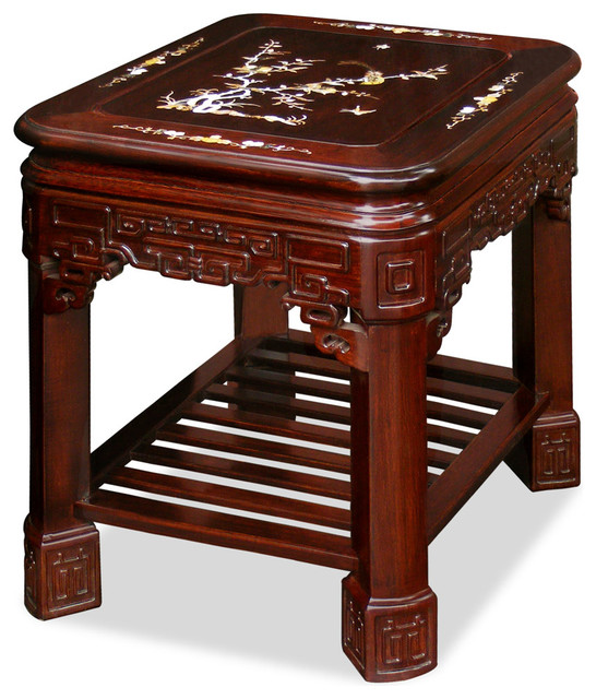 Mother Of Pearl Accent Lamp: Rosewood Imperial Lamp Table With Pearl Inlay Design