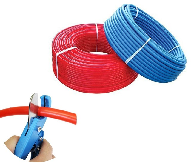 "3/4"" X 300-Feet Pex Tubing Blue Red Combo."