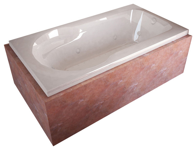 Atlantis Whirlpools Zepher 32 x 60 Rectangular Air & Whirlpool Jetted Bathtub