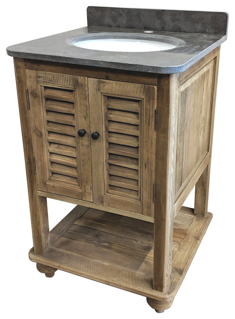 24 Reclaimed Pine Single Bath Vanity