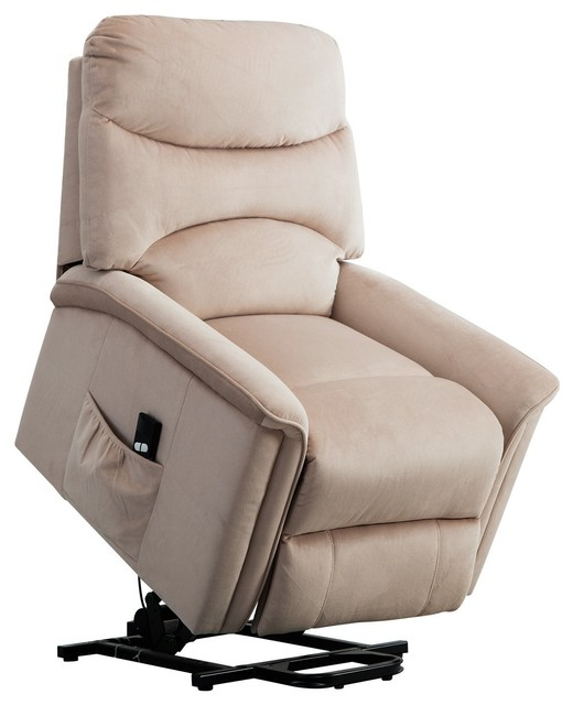 BONZY Lift Recliner Chair Power Lift Chair With Gentle Motor Velvet Cover by BONZY