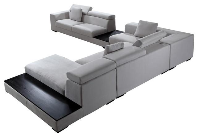 Agorwu Modern Furniture Ghana Forte Grey Microfiber Modern