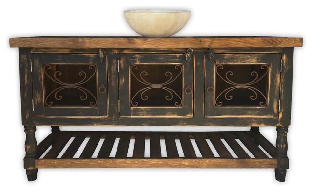 galata 54 rustic vanity with wrought iron vintage black rustic bathroom vanities and sink