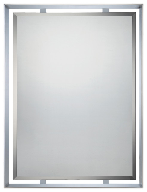 Chrome Wall Mirror uptown mirrors in polished chrome - contemporary - wall mirrors