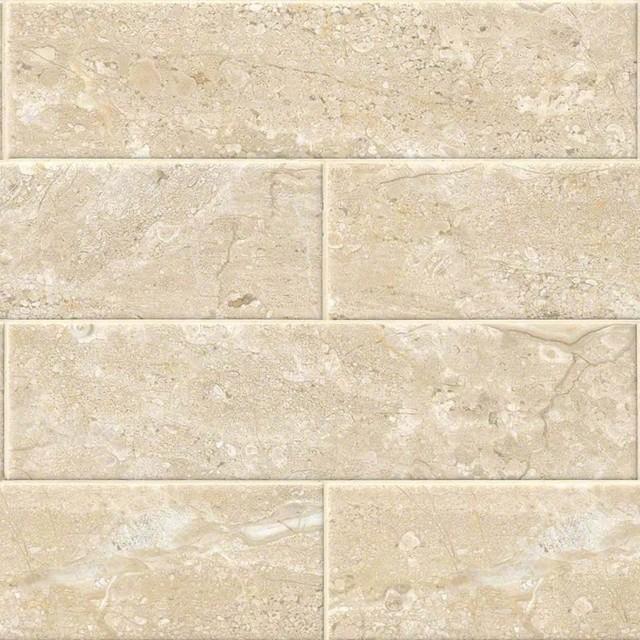 Shades Of Stone 4x16 Beige Breccia Ceramic Subway View