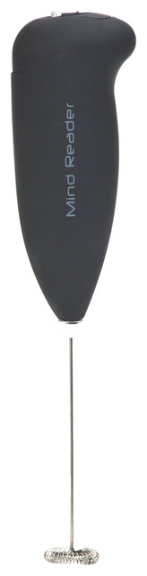 Mind Reader &x27;foam&x27; Handheld Battery Operated Milk Frother, Black.