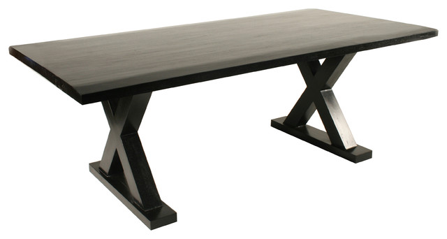 X Dining Table Transitional Dining Tables by Noir