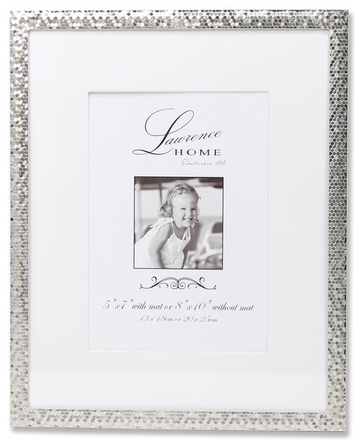 4x6 silver shimmer metal picture frame contemporary picture