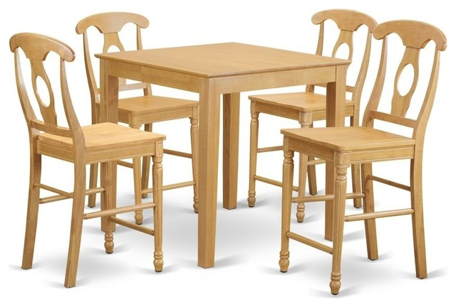 Marvelous 5 Piece Counter Height Set Dining Table And 4 Bar Stools With Backs Lamtechconsult Wood Chair Design Ideas Lamtechconsultcom