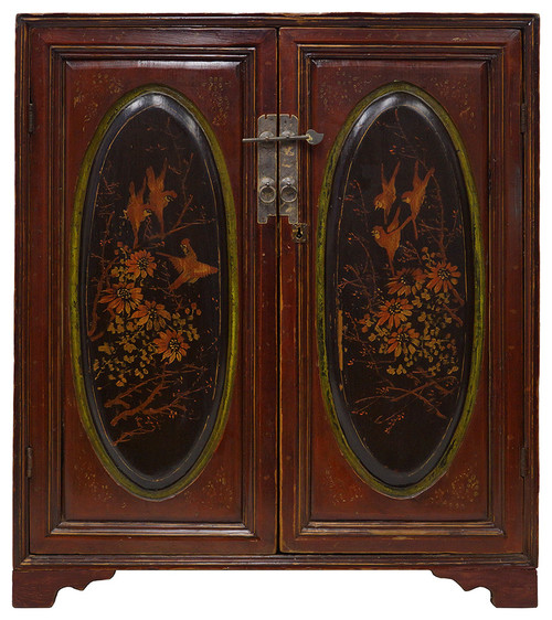 Consigned Chinese Antique Carved Gilt Fujian Cabinet 28T08