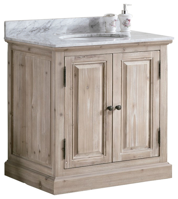 36 Solid Wood Sink Vanity With Carrera