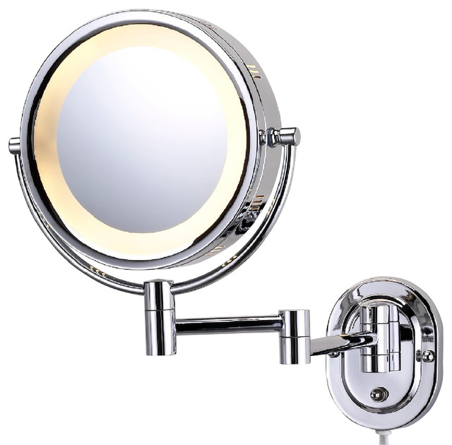 See All Industries - Modern Wall Mounted Chrome Make-Up Mirror - View in Your Room! | Houzz