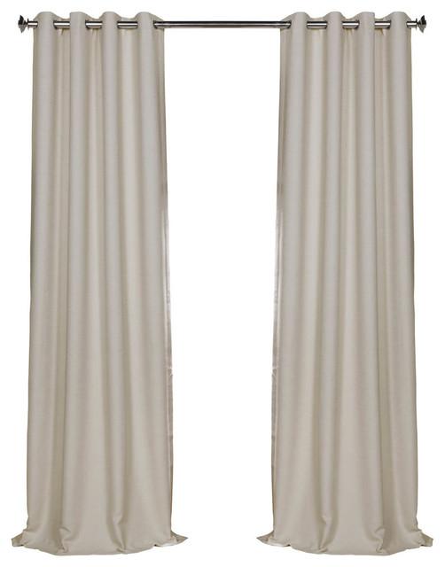"Cottage White Bellino Grommet Blackout Curtain Single Panel, 50""x84"""