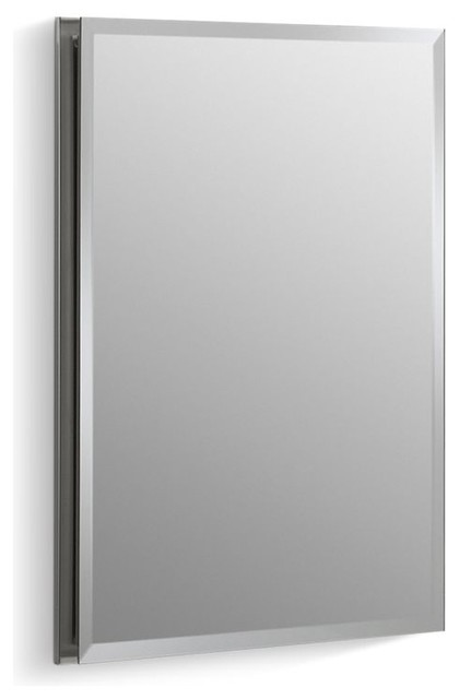 "Kohler Aluminum Single-Door Cabinet Door, Beveled Edges, 16""x20""."