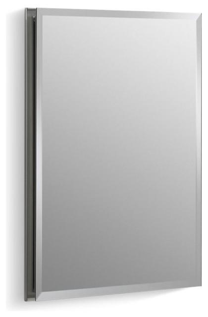 Kohler Aluminum Single Door Cabinet Beveled Edges 16 X20 Contemporary Medicine Cabinets By The Stock Market