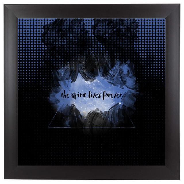 """""""The Spirit Lives Forever Black Blue"""""""