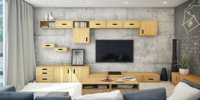 bamboo modern furniture. Modular Bamboo Furniture Modern-family-room Modern U