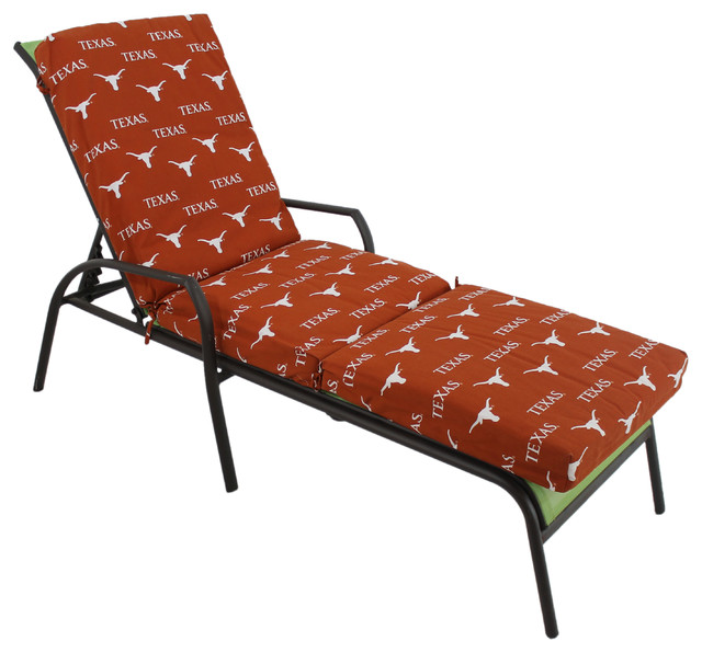 texas longhorns 3 piece chaise lounge cushion. Black Bedroom Furniture Sets. Home Design Ideas