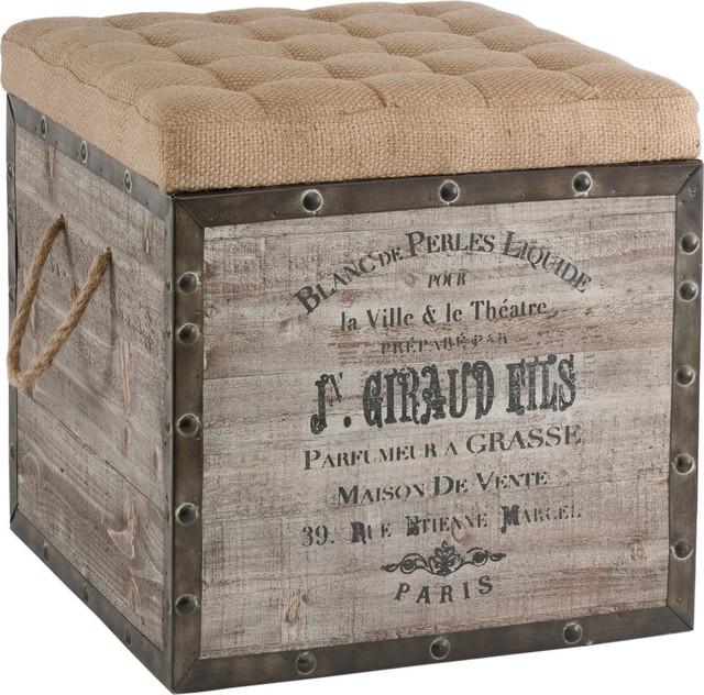 Storage Cube, Aged Wood.