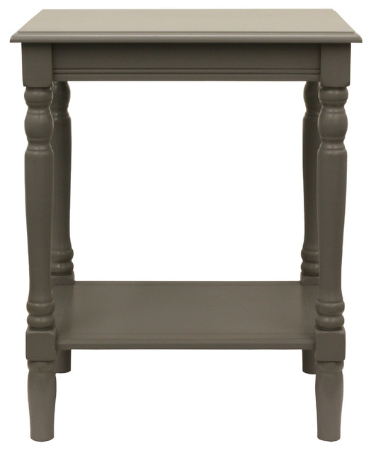 Simply End Table Eased Edge Gray Traditional Side