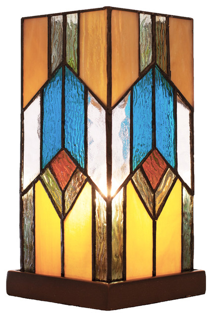10.5 Stained Glass Mission Uplight Accent Lamp.