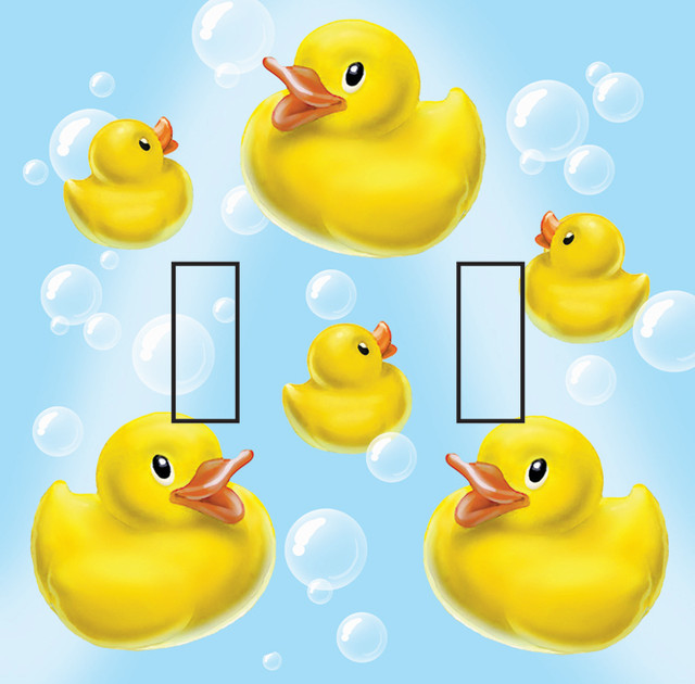 Rubber Ducky Double Toggle Peel and Stick Switch Plate Cover ...