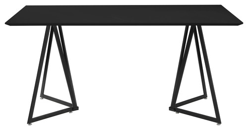 Contemporary Kitchen Dining Table, 2-Tone, Waterproof Mold Resistant, Black