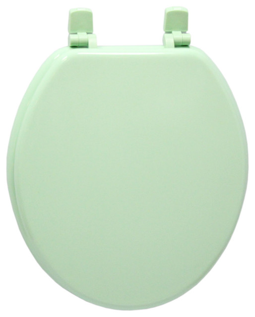 Trimmer Wood Toilet Seat Lake Green Contemporary