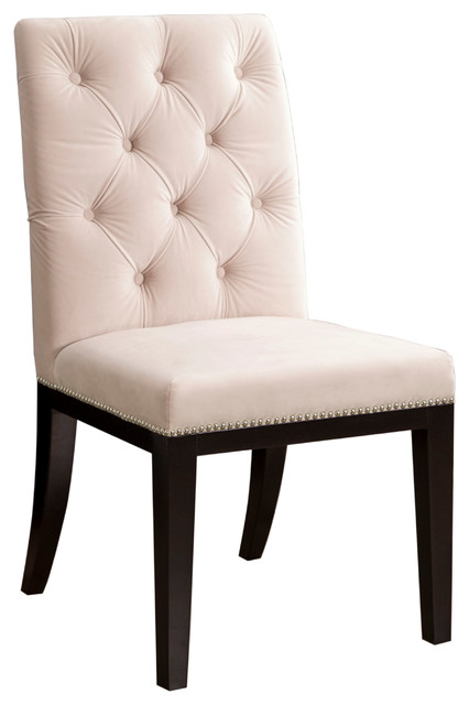 Mason Tufted Dining Chair, Ivory