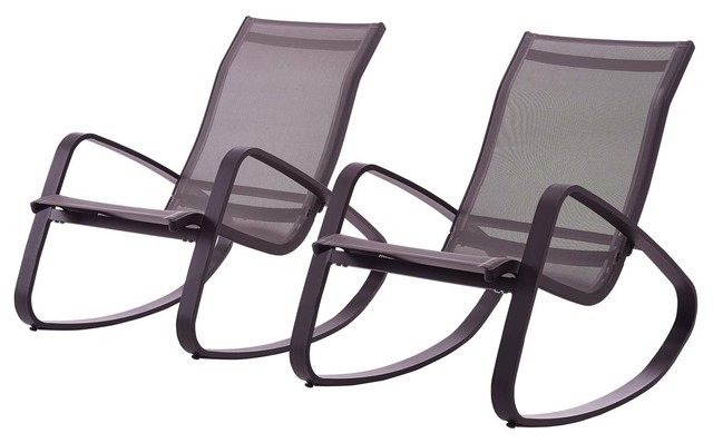 Tremendous Modern Outdoor Lounge Chair Set Set Of 2 Aluminum Metal Steel Black Spiritservingveterans Wood Chair Design Ideas Spiritservingveteransorg
