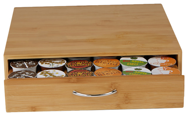 Bamboo K-Cup Drawer, Brown.
