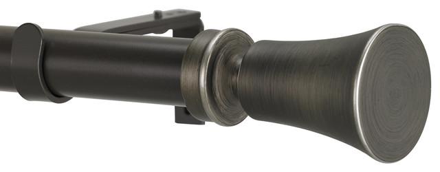 Tama Non-Telescoping Curtain Rod, Oil Rubbed Bronze, 72&x27;&x27;.
