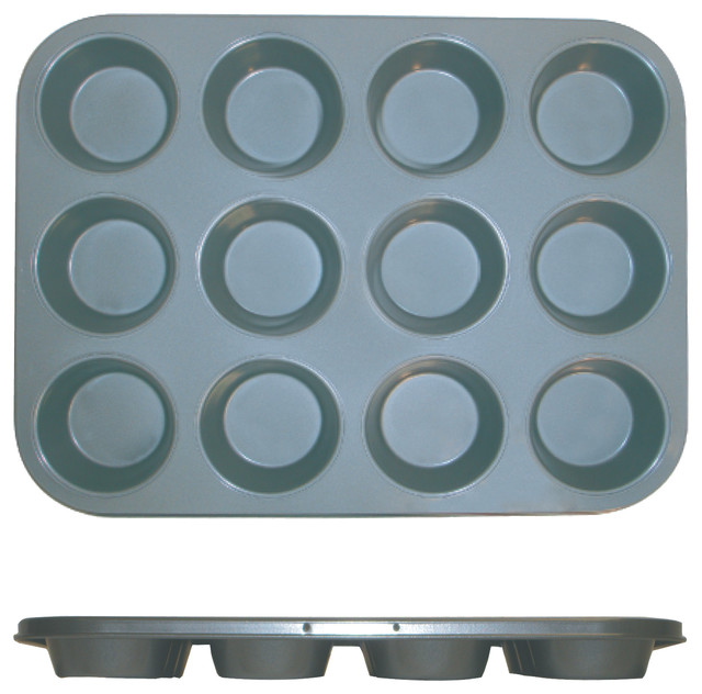 12 Cup Muffin Pan - Non Stick 0.4m/m, 3.5 Oz. Each Cup.