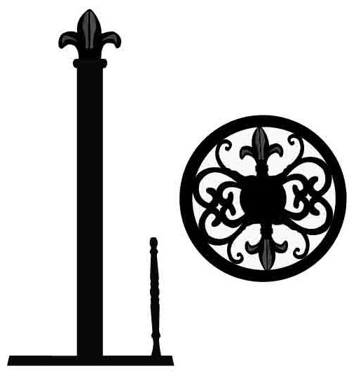 Home basics cast iron fleur de lis paper towel holder black contemporary paper towel - Fleur de lis towel bar ...