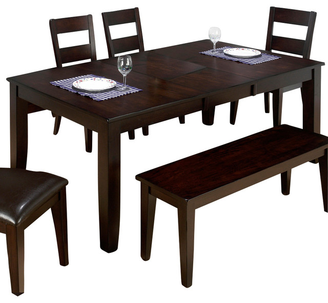 Jofran Dark Rustic Prairie Erfly Leaf Dining Table