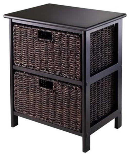 Omaha Storage Rack With 2-Foldable Baskets.