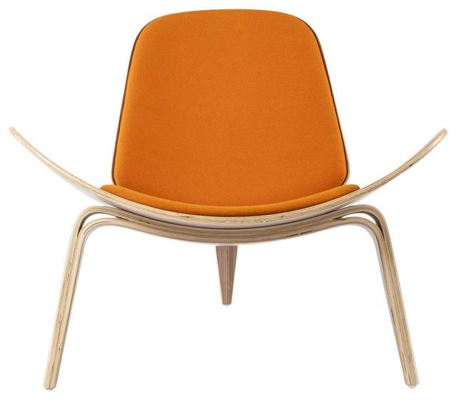 Stilnovo Bent Playwood Bishop Chair, Orange