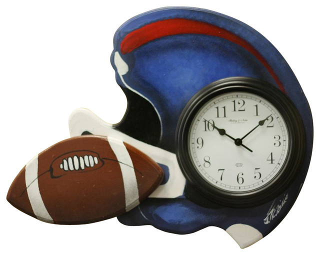 Albert Tribuiani Football Clock Kids Clocks Houzz