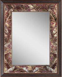 Tropical Leaf Mirror 27 Quot X35 Quot Tropical Bathroom