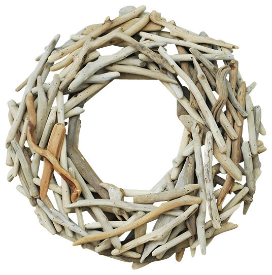 Driftwood Round Wreath Beach Style Wreaths And